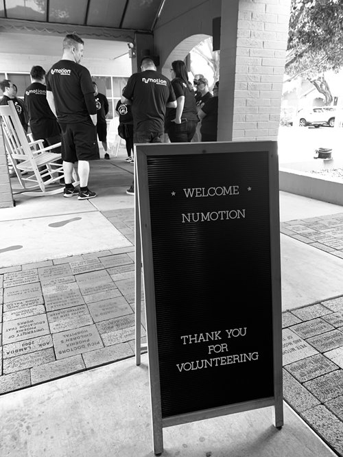 Thank you for volunteering sign